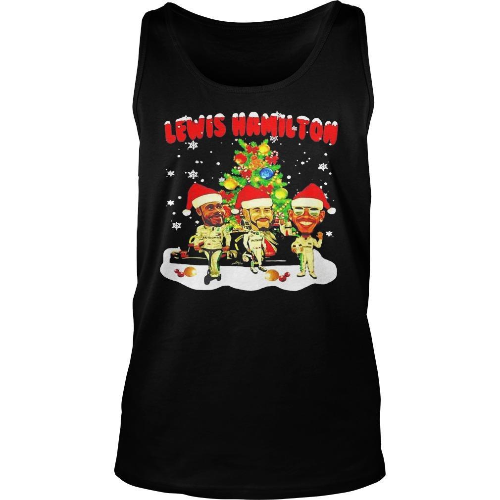 Christmas Tree Lewis Hamilton Tank Top