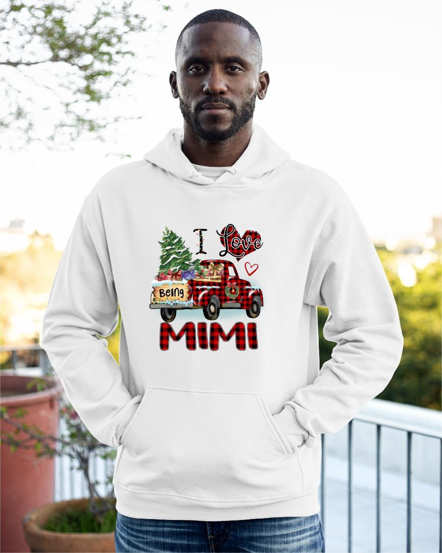 Christmas Truck I Love Being Mimi Hoodie