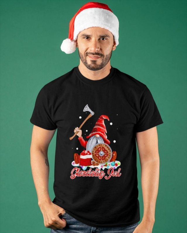 Christmas Viking Gnome Gloedelig Jul Shirt