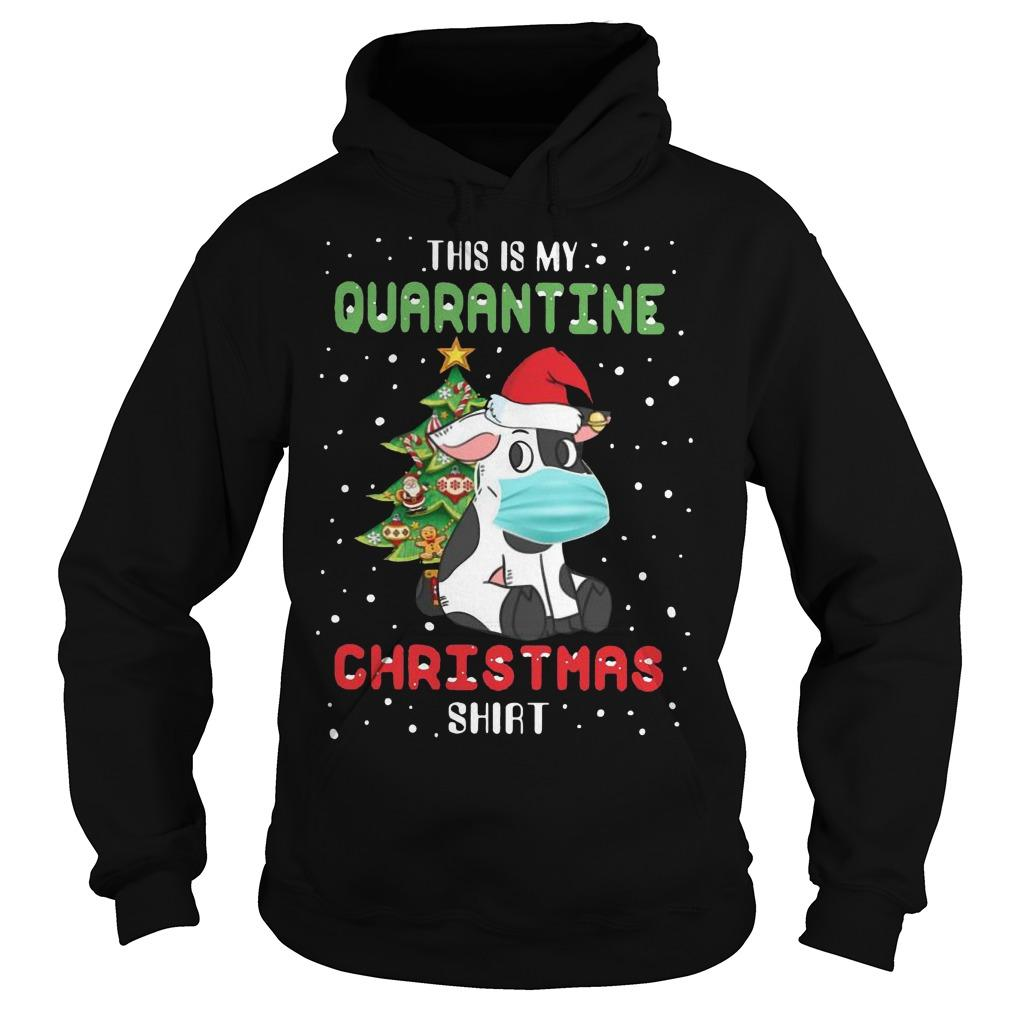 Cow This Is My Quarantine Christmas Hoodie