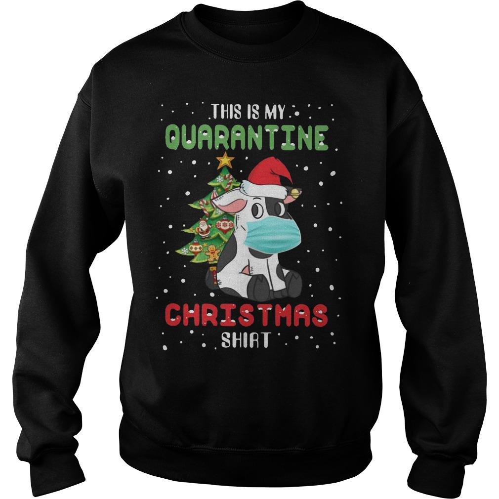 Cow This Is My Quarantine Christmas Sweater
