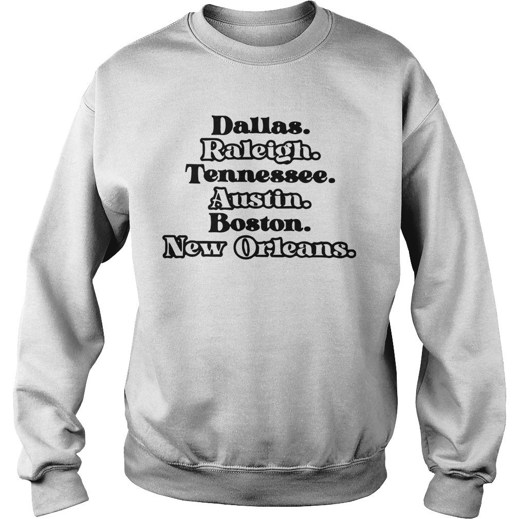 Dallas Raleigh Tennessee Austin Boston New Orleans Sweater