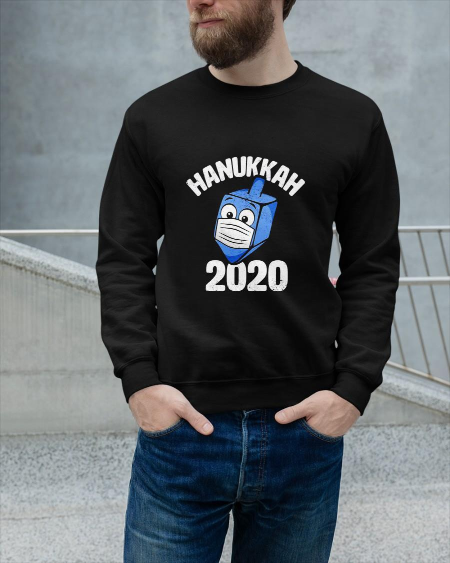 Dreidel Wearing Face Mask Hanukkah 2020 Sweater