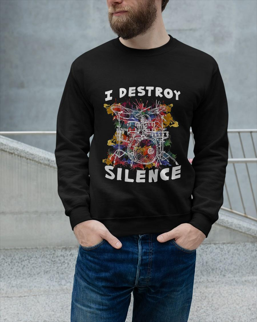 Drumset I Destroy Silence Sweater