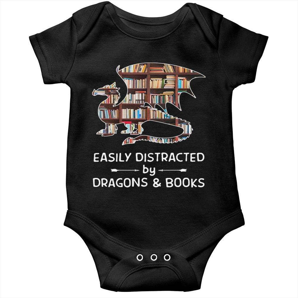 Easily Distracted By Dragons And Books Longsleeve