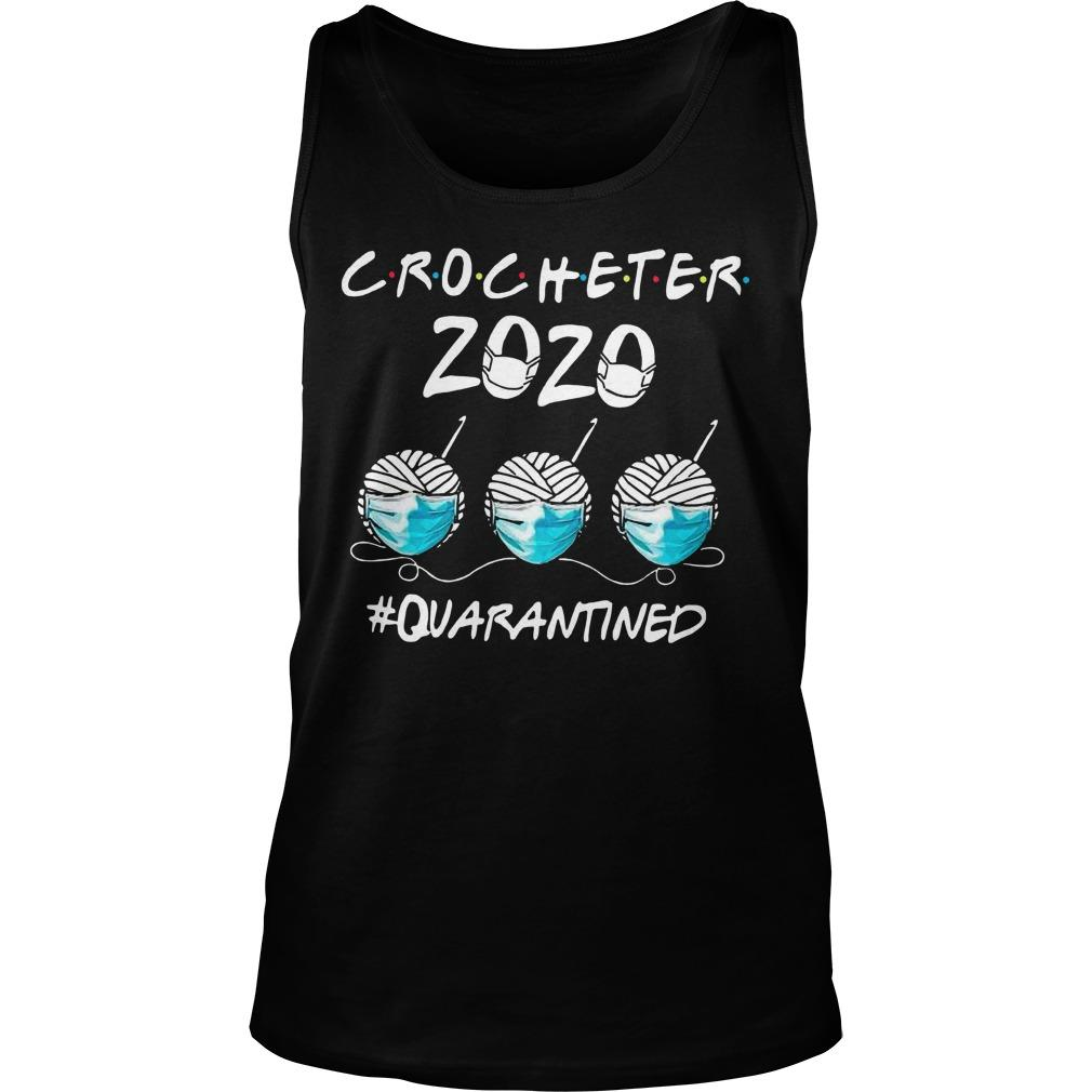 Face Mask Crocheter 2020 Quarantined Tank Top