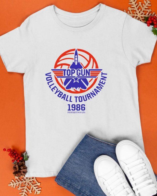 Fightertown Usa Top Gun Volleyball Tournament 1986 Shirt