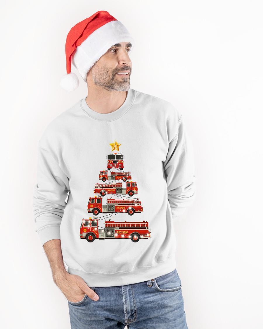 Firefighter Christmas Tree Sweater