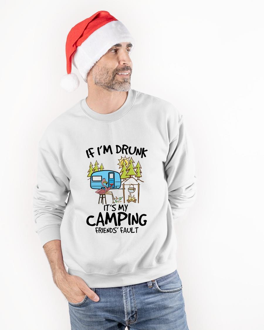 Flamingo If I'm Drunk It's My Camping Friends' Fault Longsleeve