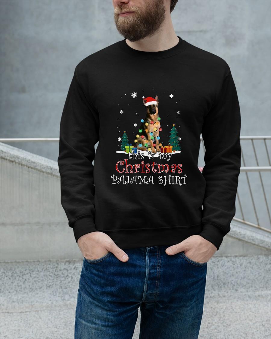 German Shepherd This Is My Christmas Pajama Tank Top