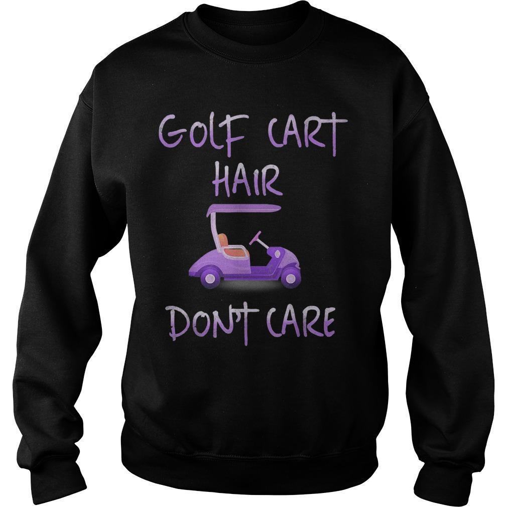 Golf Cart Hair Don't Care Sweater