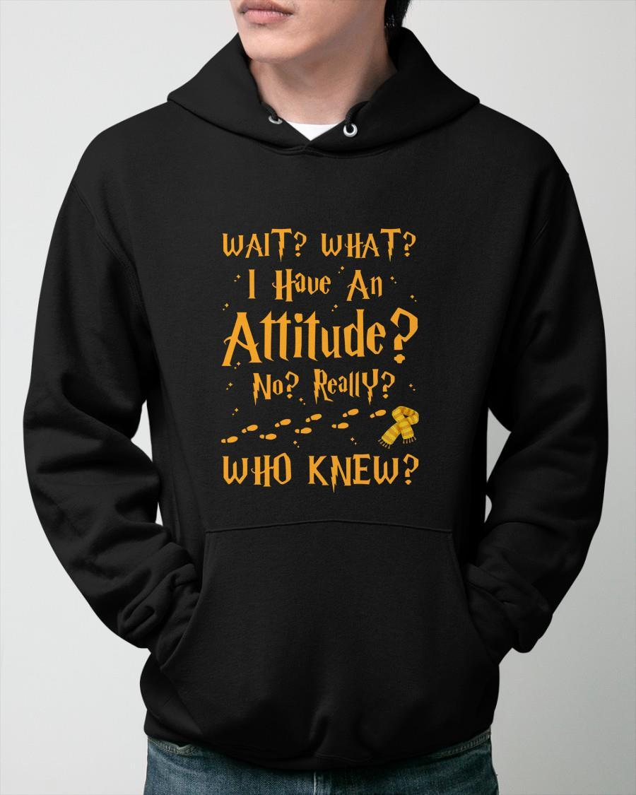 Harry Potter Wait What I Have An Attitude No Really Who Knew Hoodie