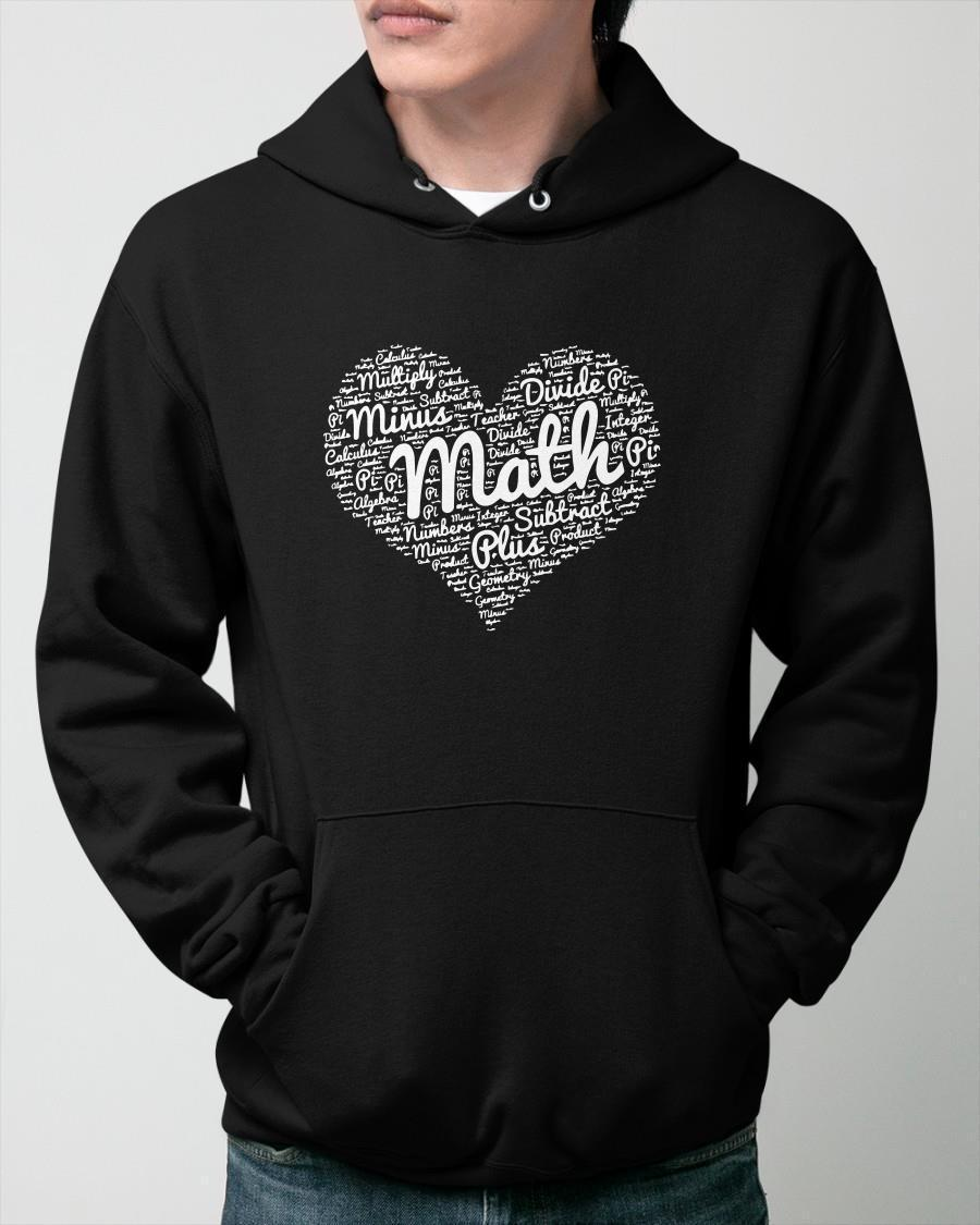 Heart Math Multiply Minus Divide Pi Subtract Plus Hoodie
