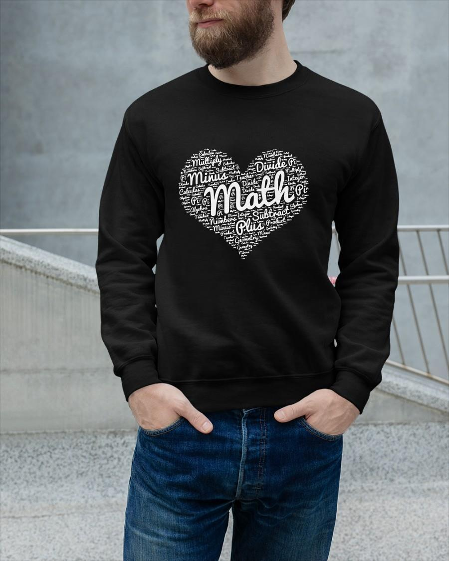 Heart Math Multiply Minus Divide Pi Subtract Plus Sweater