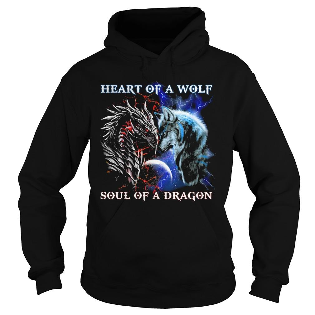 Heart Of A Wolf Soul Of A Dragon Hoodie