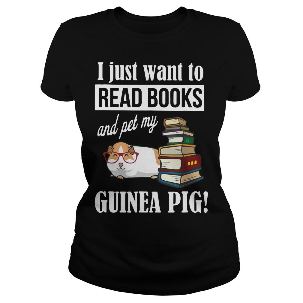 I Just Want To Read Books And Pet My Guinea Pig Longsleeve