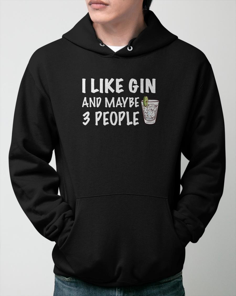 I Like Gin And Maybe 3 People Hoodie