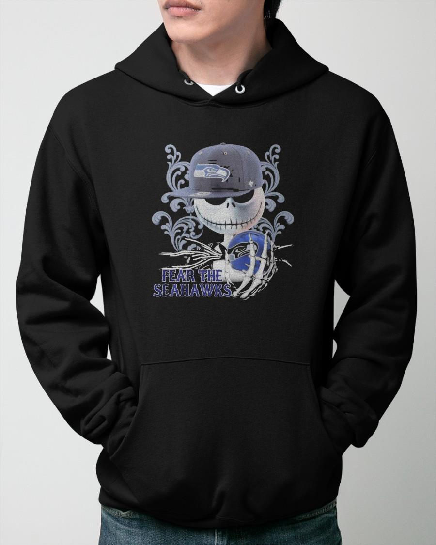 Jack Skellington 2021 Fear The Seahawks Hoodie