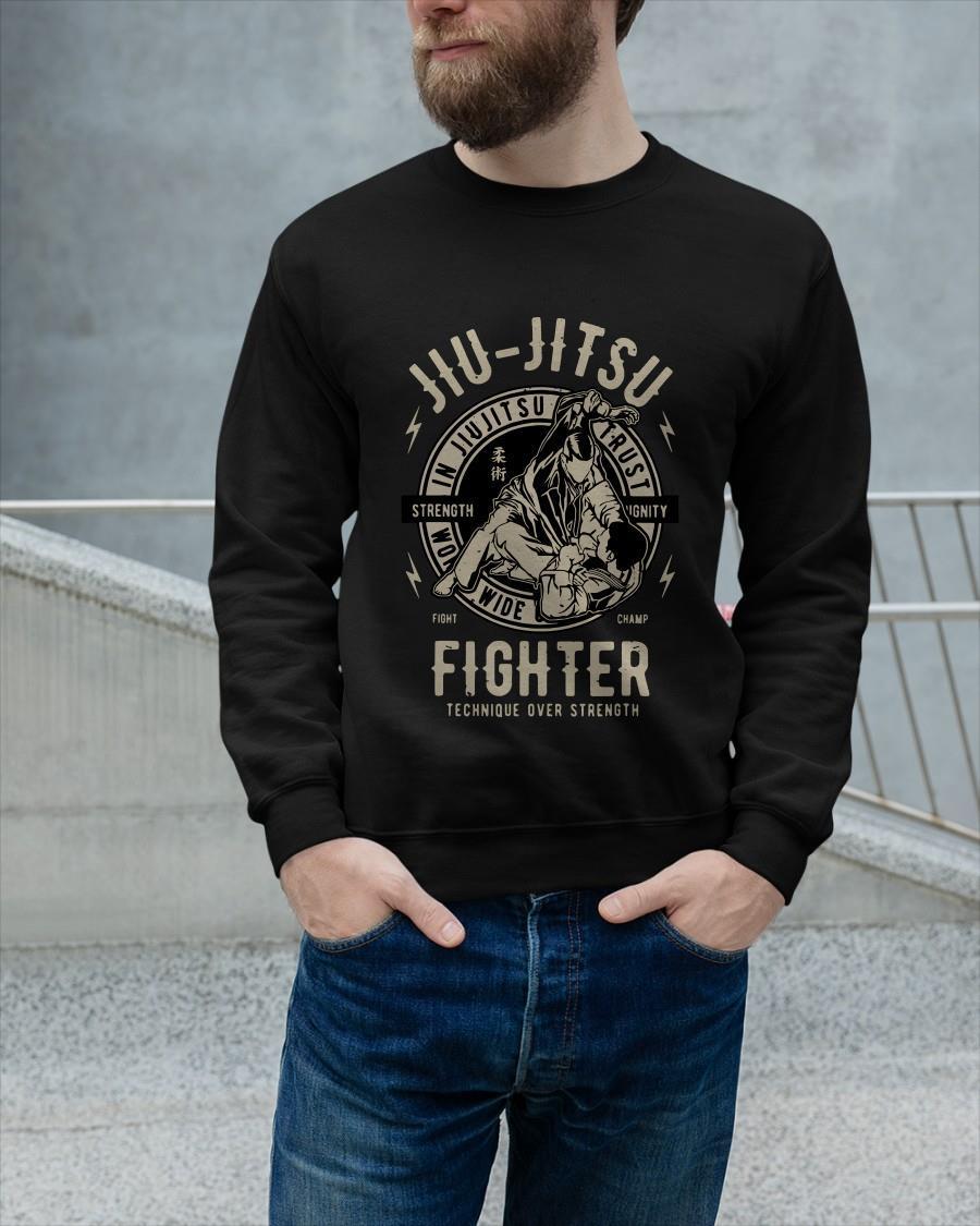Jiu Jitsu Fighter Technique Over Strength Sweater