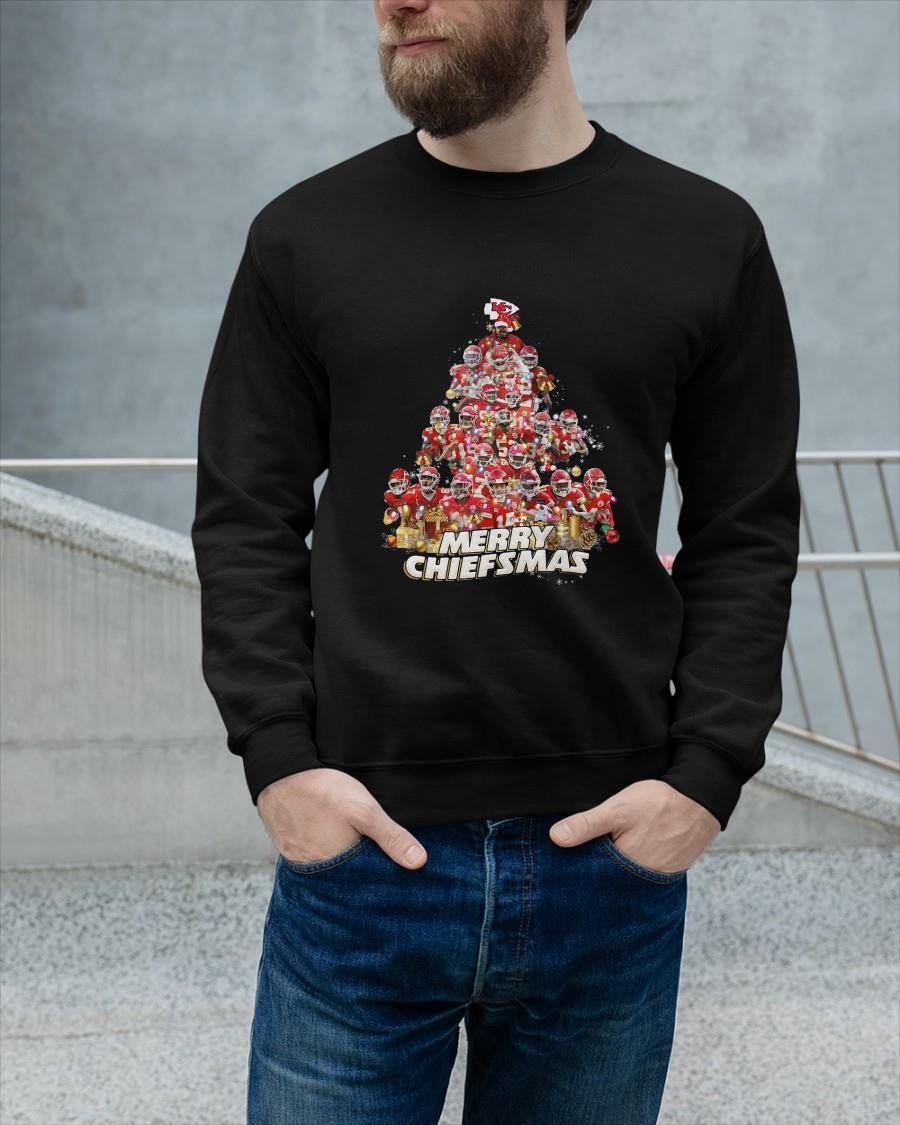 Kansas City Chiefs Player Tree Merry Christmas Tank Top
