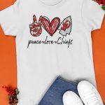 Kansas Peace Love Chiefs Shirt