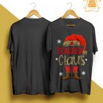 Leopard Print Teacher Claus Shirt