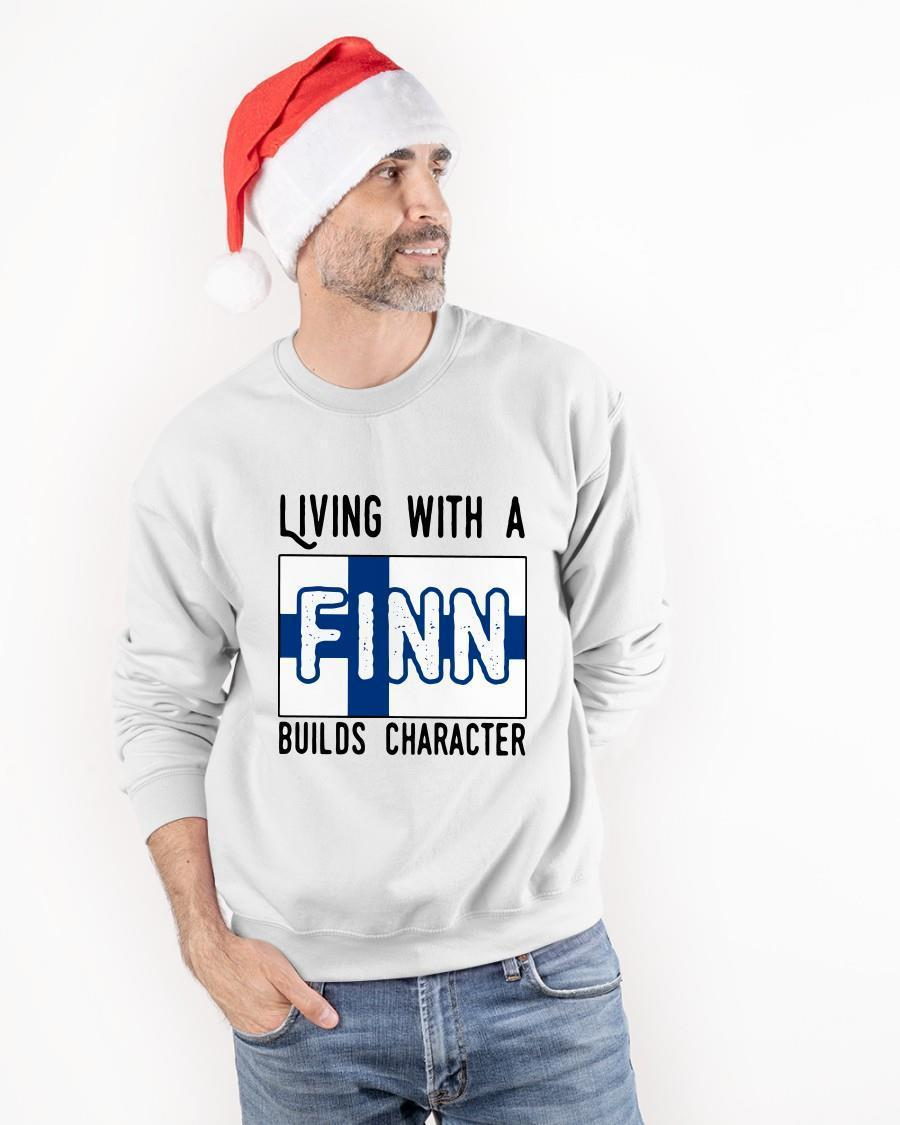 Living With A Finn Builds Character Sweater