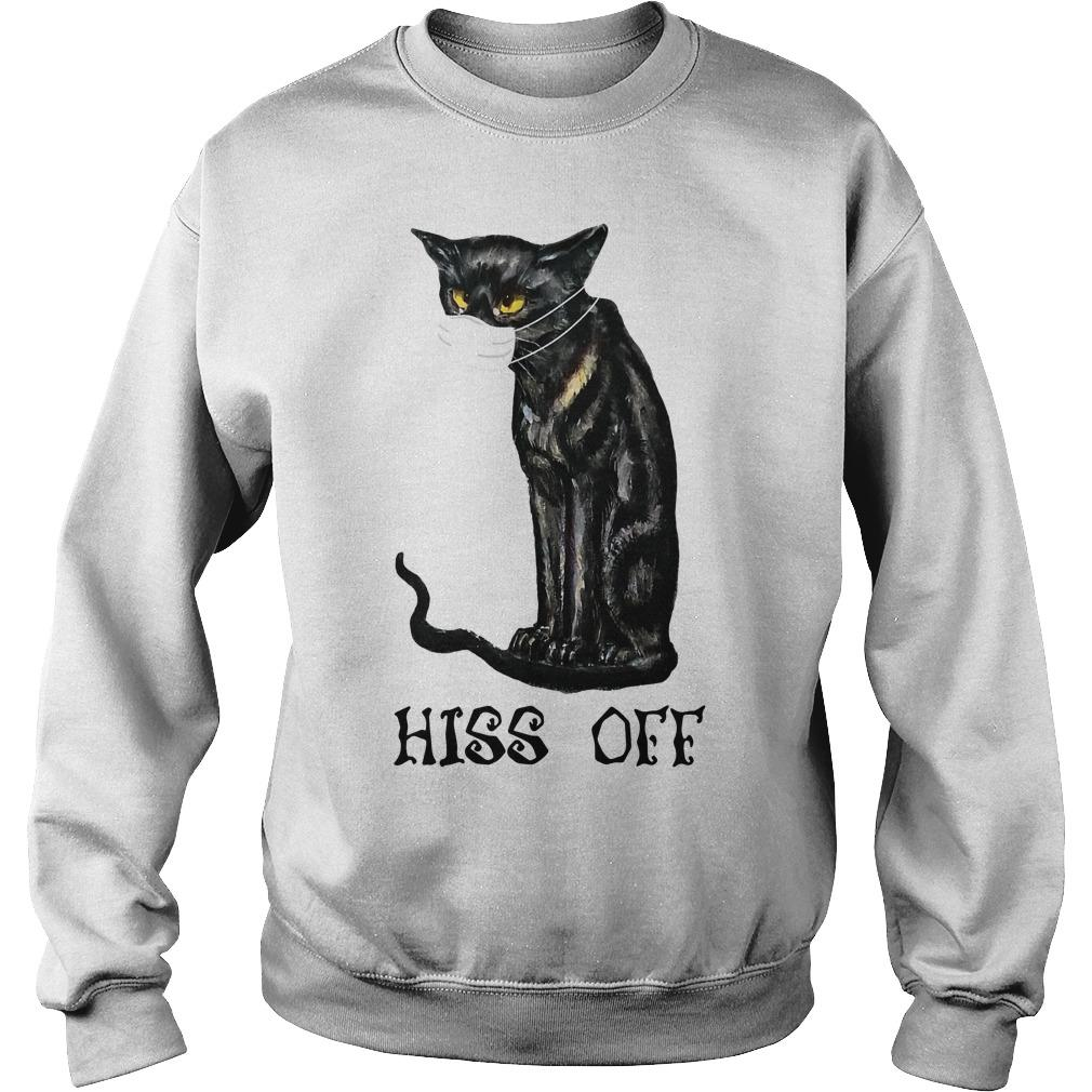 Mask Cat Hiss Off Sweater