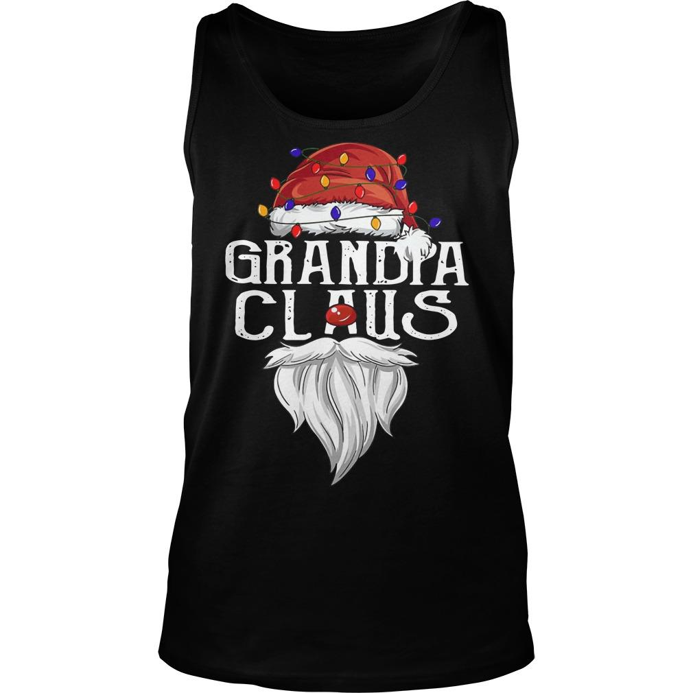 Merry Christmas Light Santa Claus Grandpa Claus Tank Top