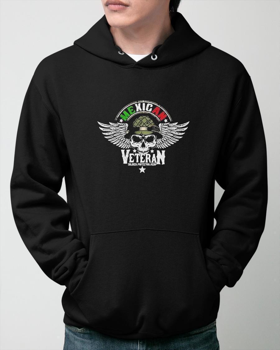 Mexican Veteran Soldier Protector Hero Hoodie