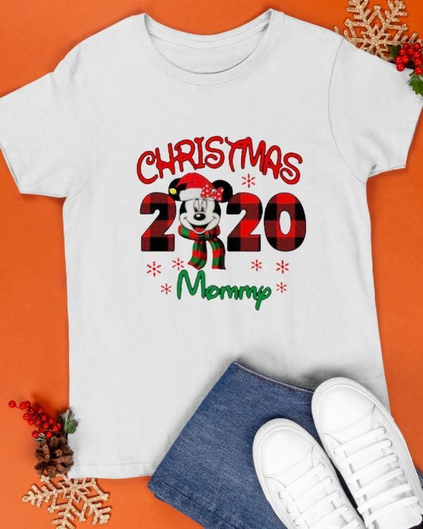 Mickey Mouse Merry Christmas 2020 Mommy Shirt