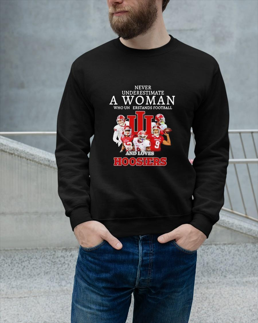 Never Underestimate A Woman Who Understands Football And Loves Hoosiers Longsleeve