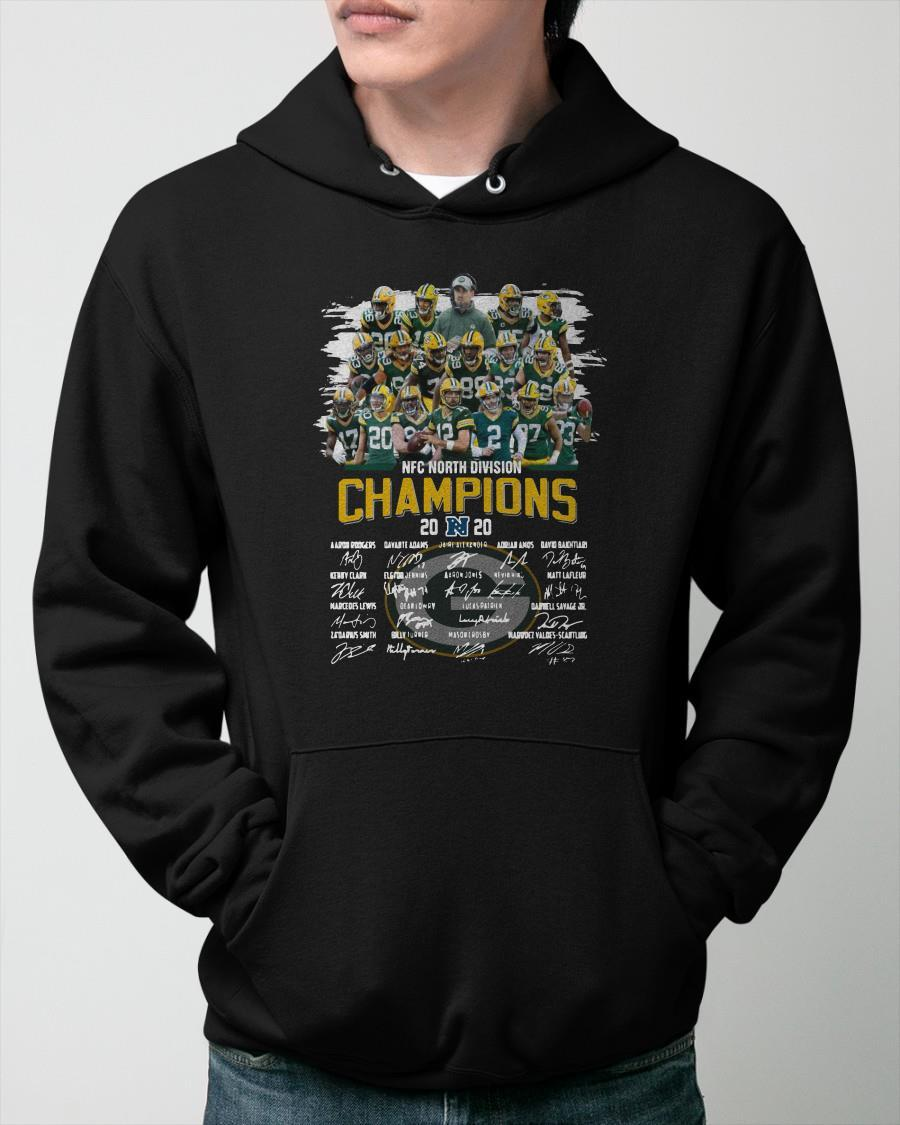 Nfc North Division Champions 2020 Signatures Hoodie