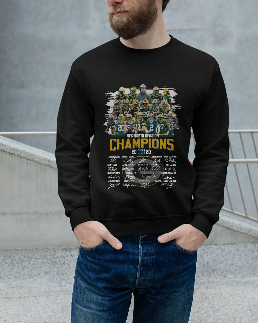 Nfc North Division Champions 2020 Signatures Longsleeve