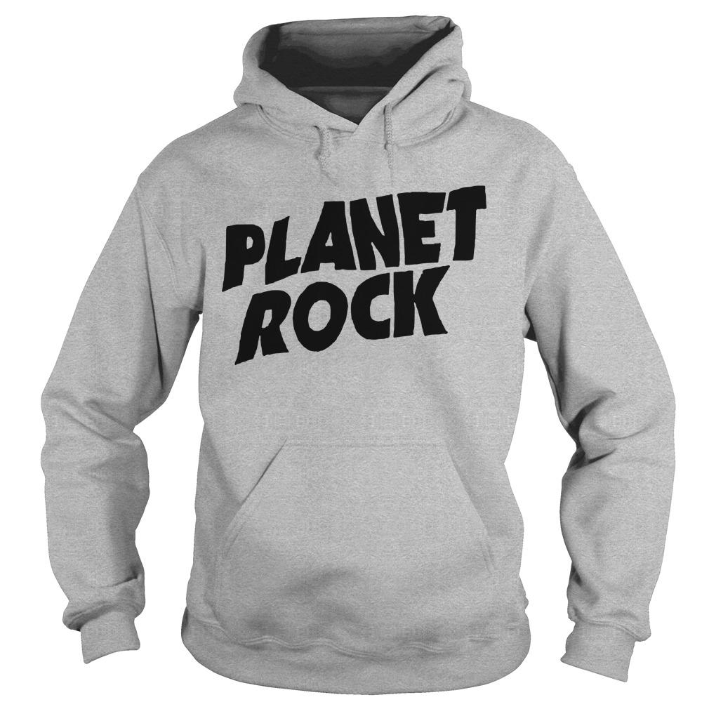 Planet Rock The Rock Black Picture Hoodie