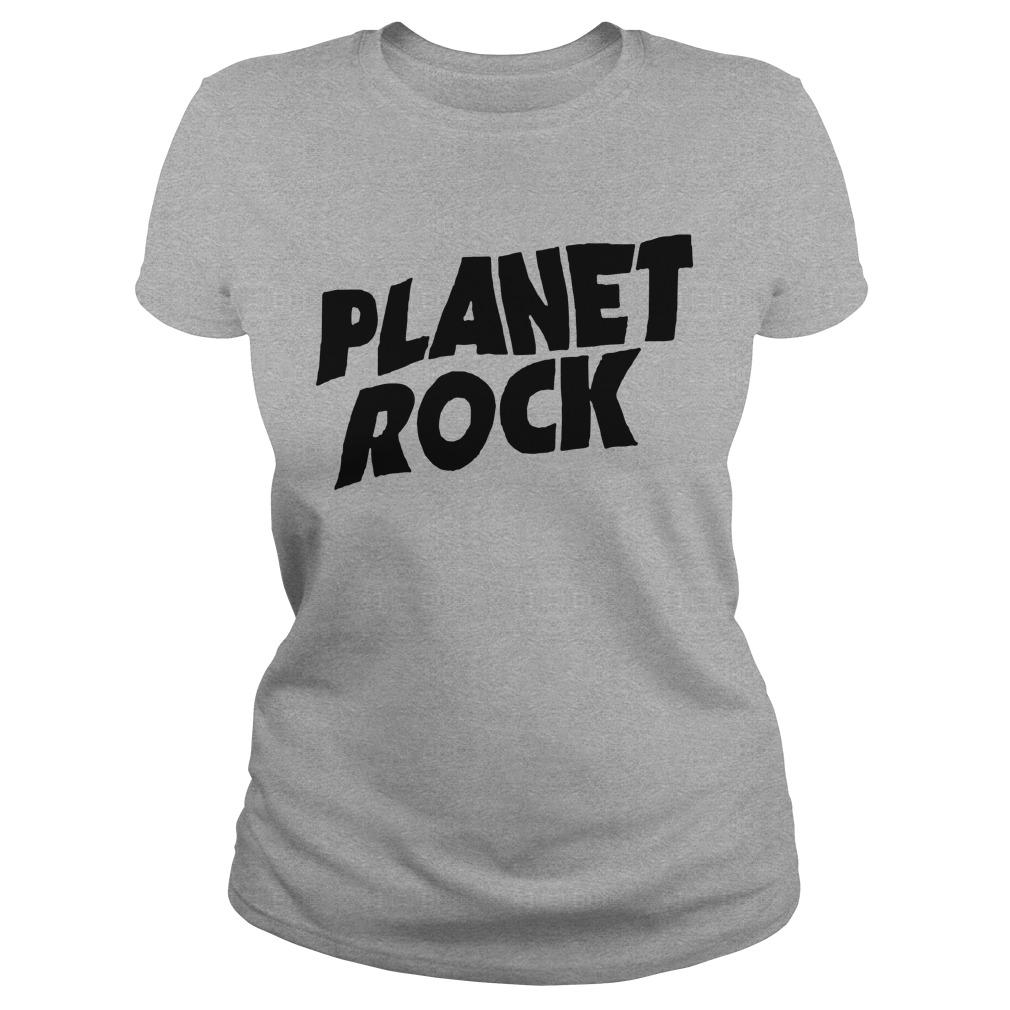 Planet Rock The Rock Black Picture Longsleeve