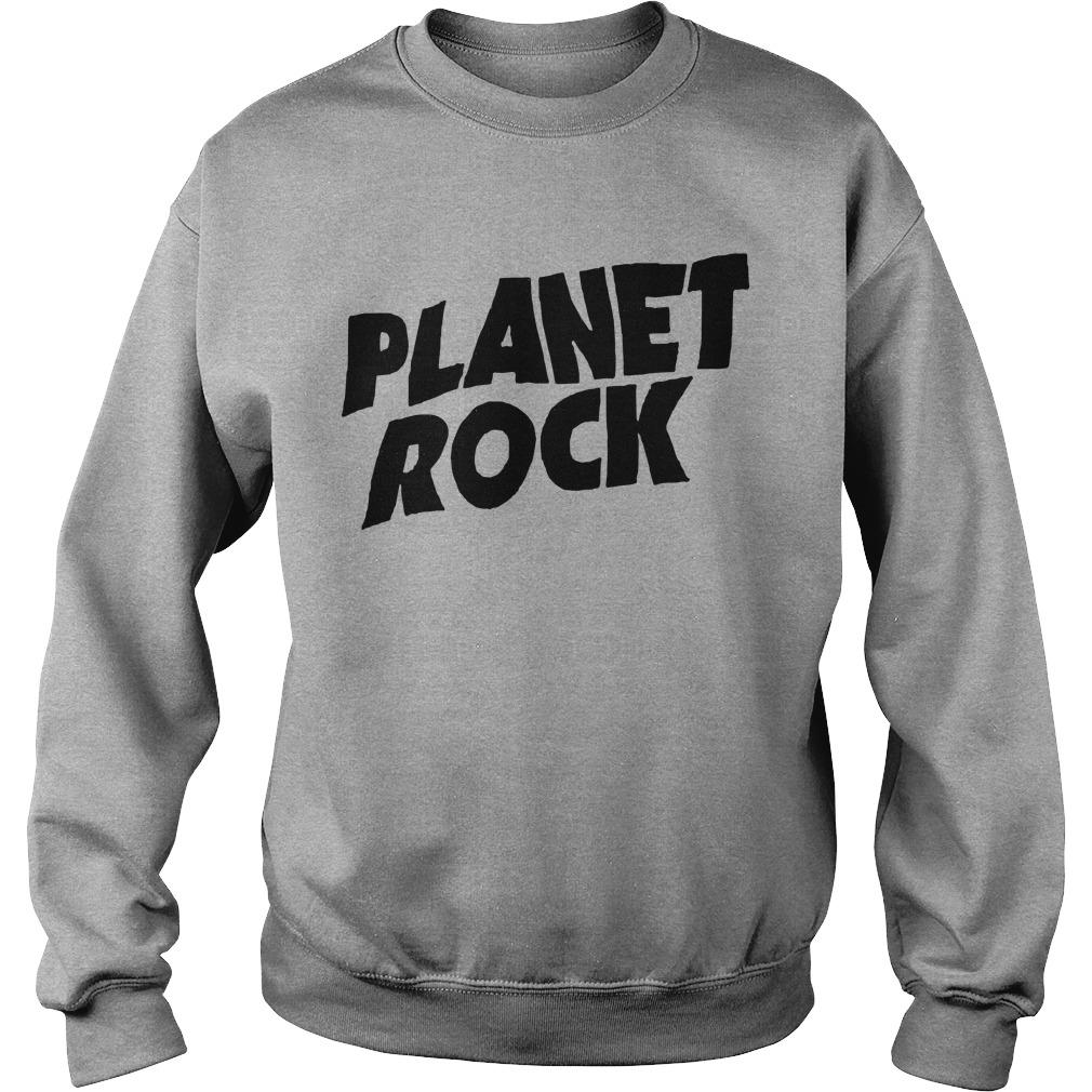 Planet Rock The Rock Black Picture Sweater