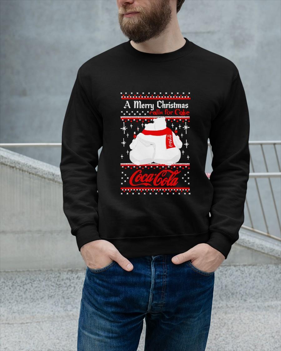 Polar Bears A Merry Christmas Calls For Coke Coca Cola Tank Top