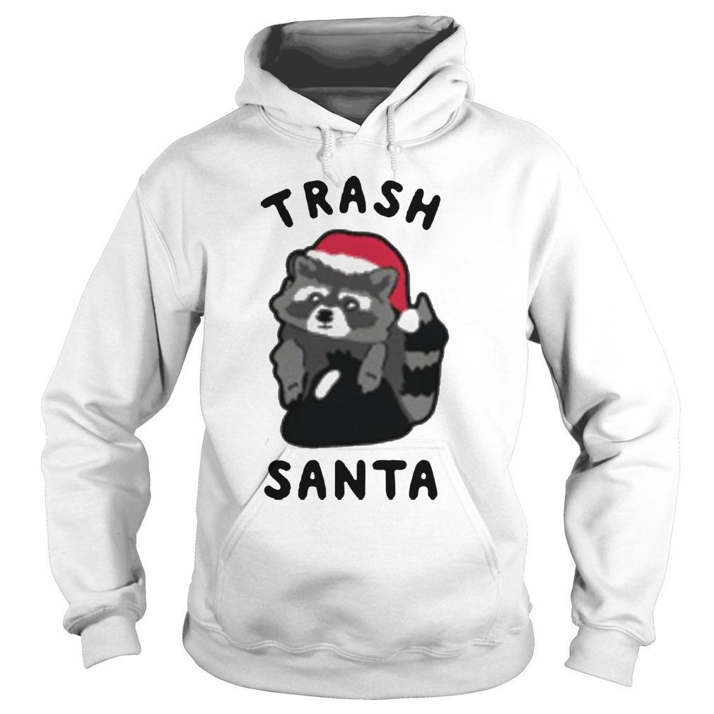 Raccoon Merry Christmas Trash Santa Hoodie