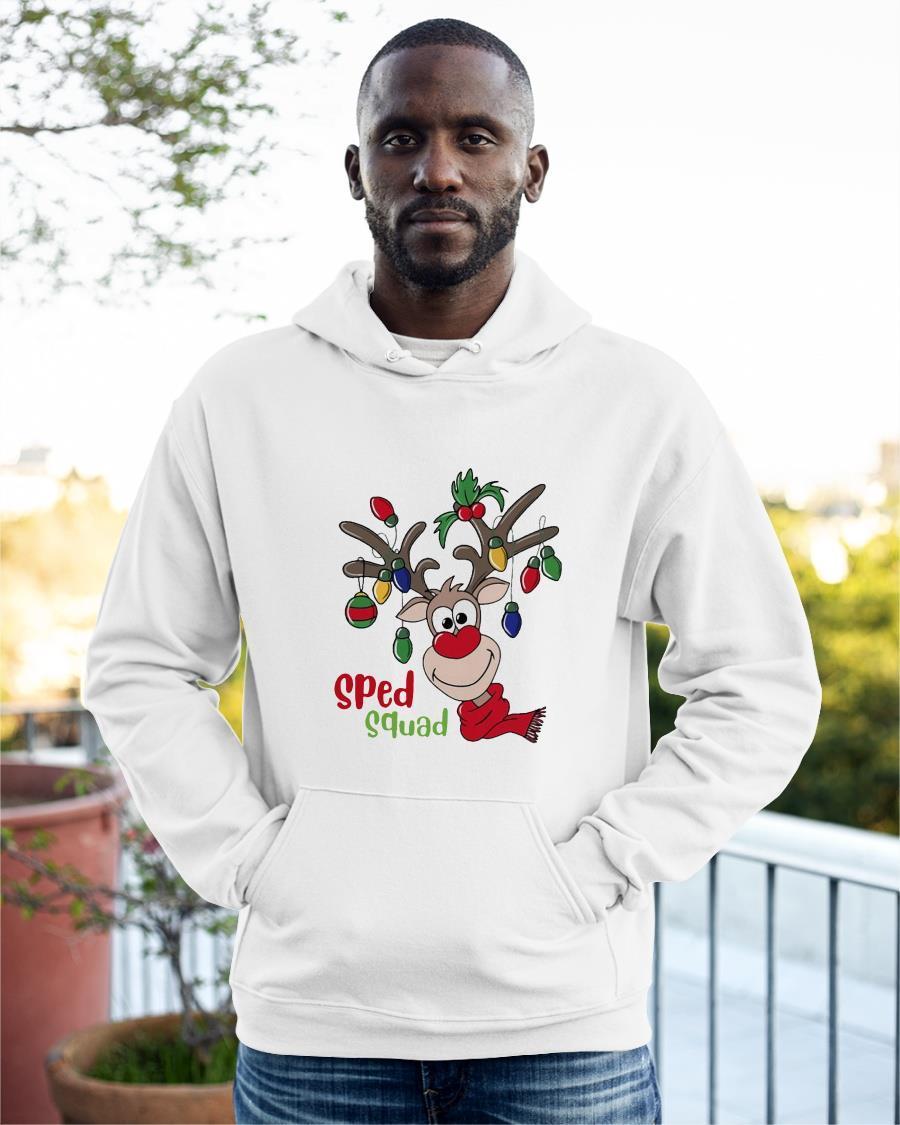 Reindeer Christmas Sped Squad Hoodie