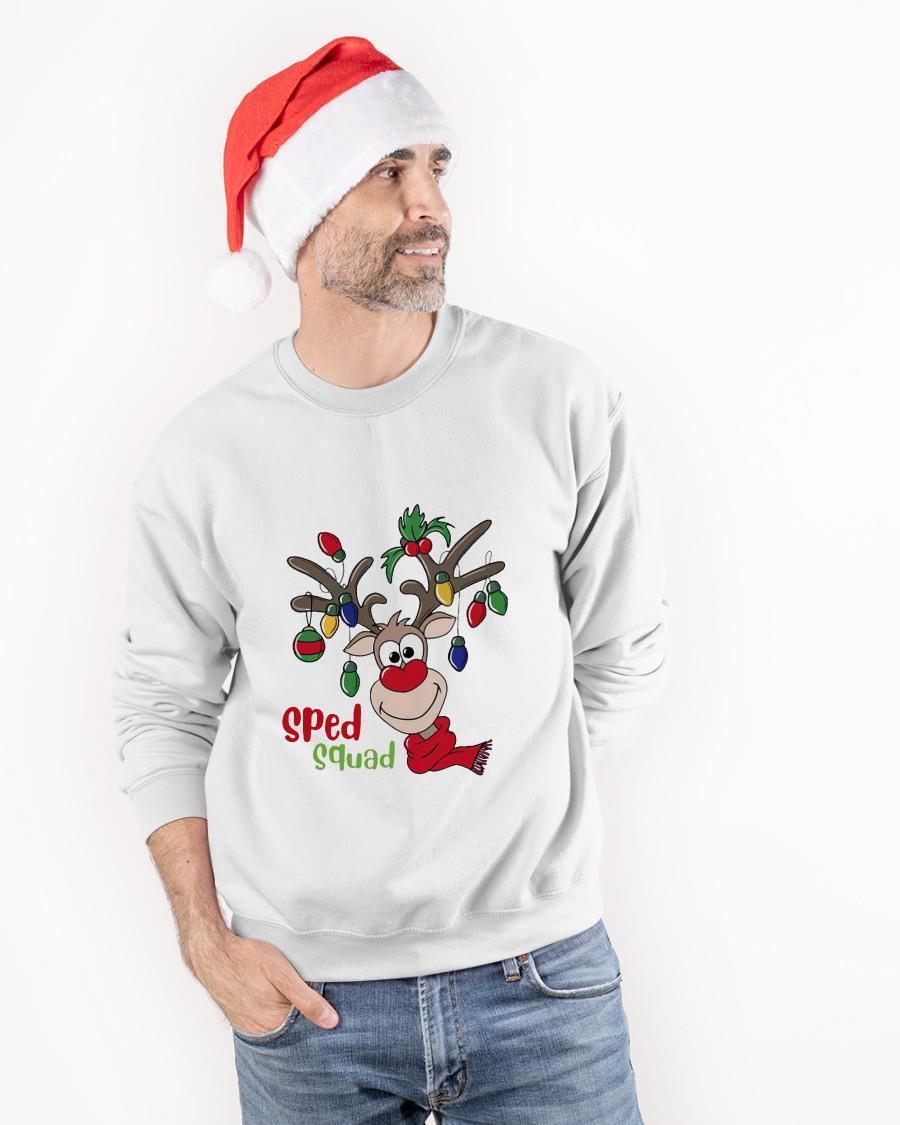 Reindeer Christmas Sped Squad Longsleeve