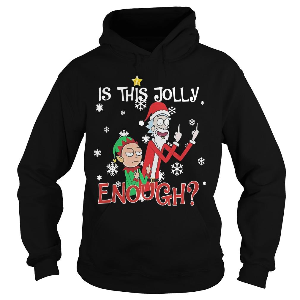 Rick And Morty Is This Jolly Enough Hoodie