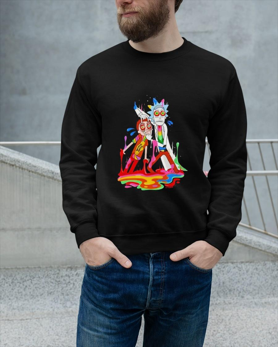 Rick And Morty Smoking Weed Bad Trip Sweater