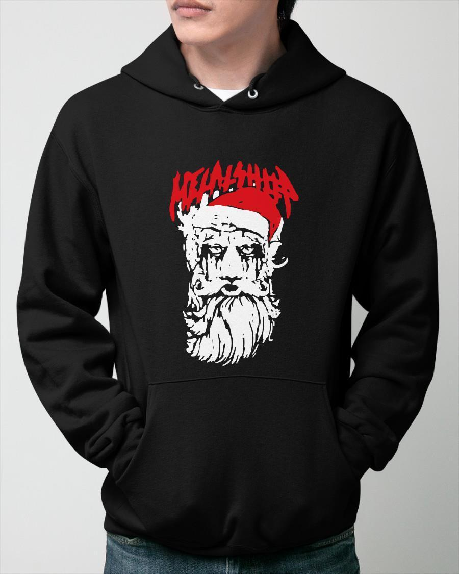 Rock N' Roll Merry Christmas Santa Claus Metalshop Hoodie