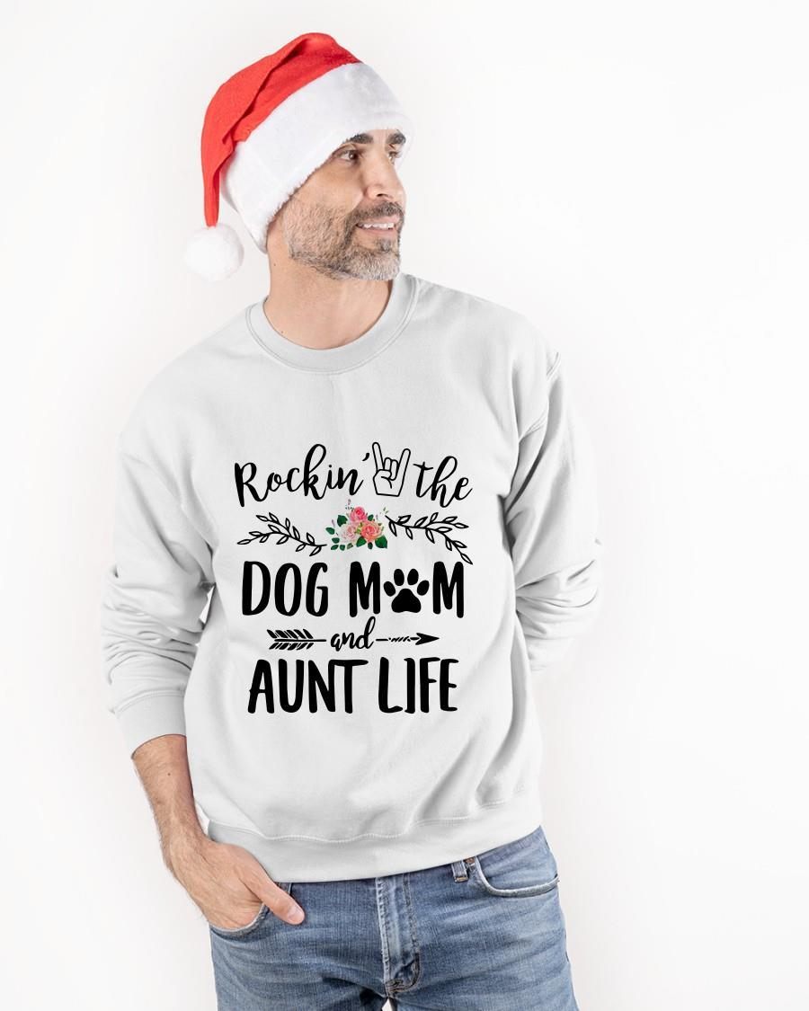 Rocking The Dog Mom And Aunt Life Tank Top