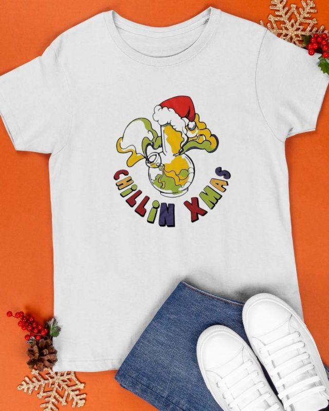 Santa Air Chillin Xmas Shirt