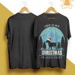 Santa Dachshund This Is My Christmas Pajama Shirt