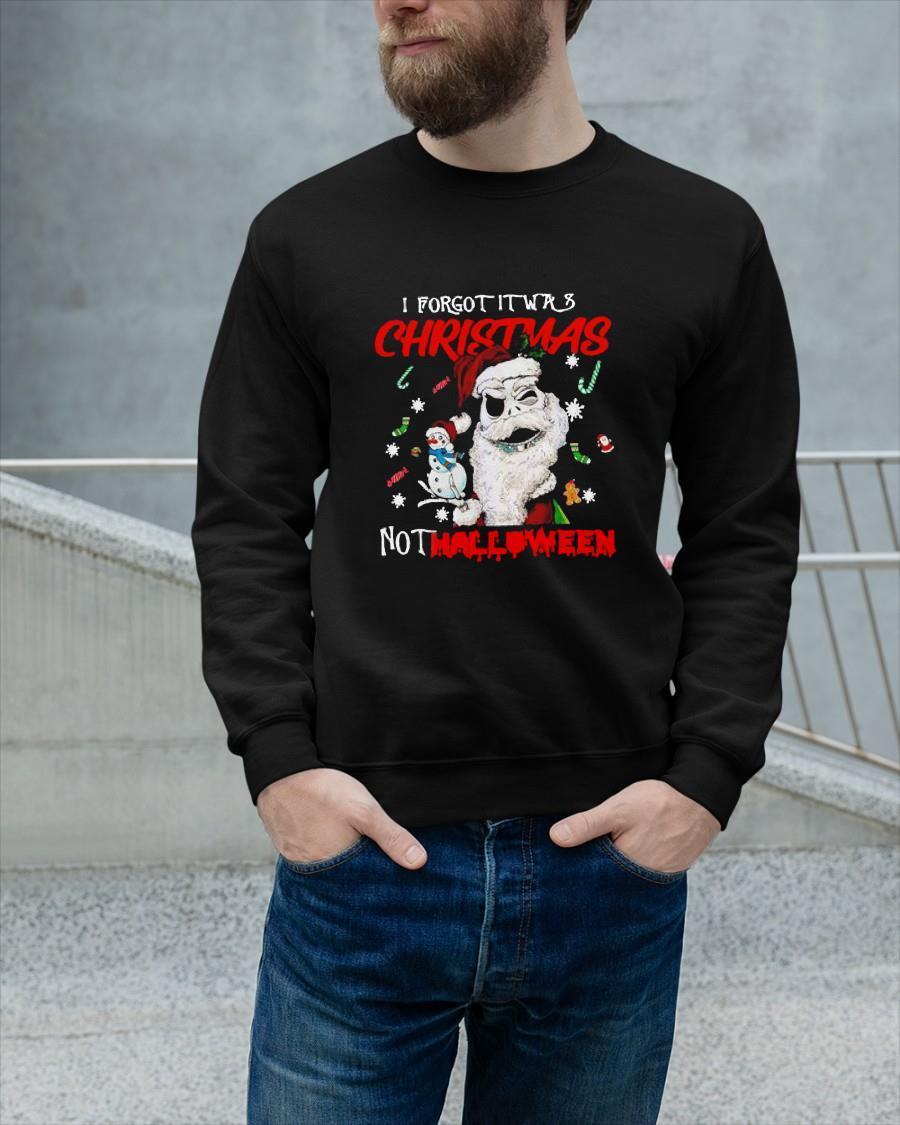 Santa Jack I Forgot It Was Christmas Not Halloween Sweater