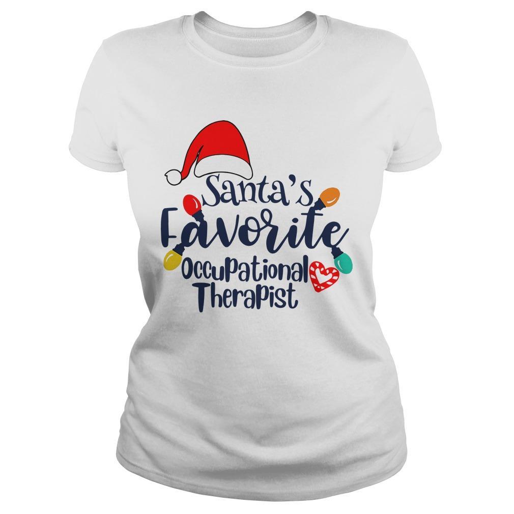 Santa's Favorite Occupational Therapist Longsleeve