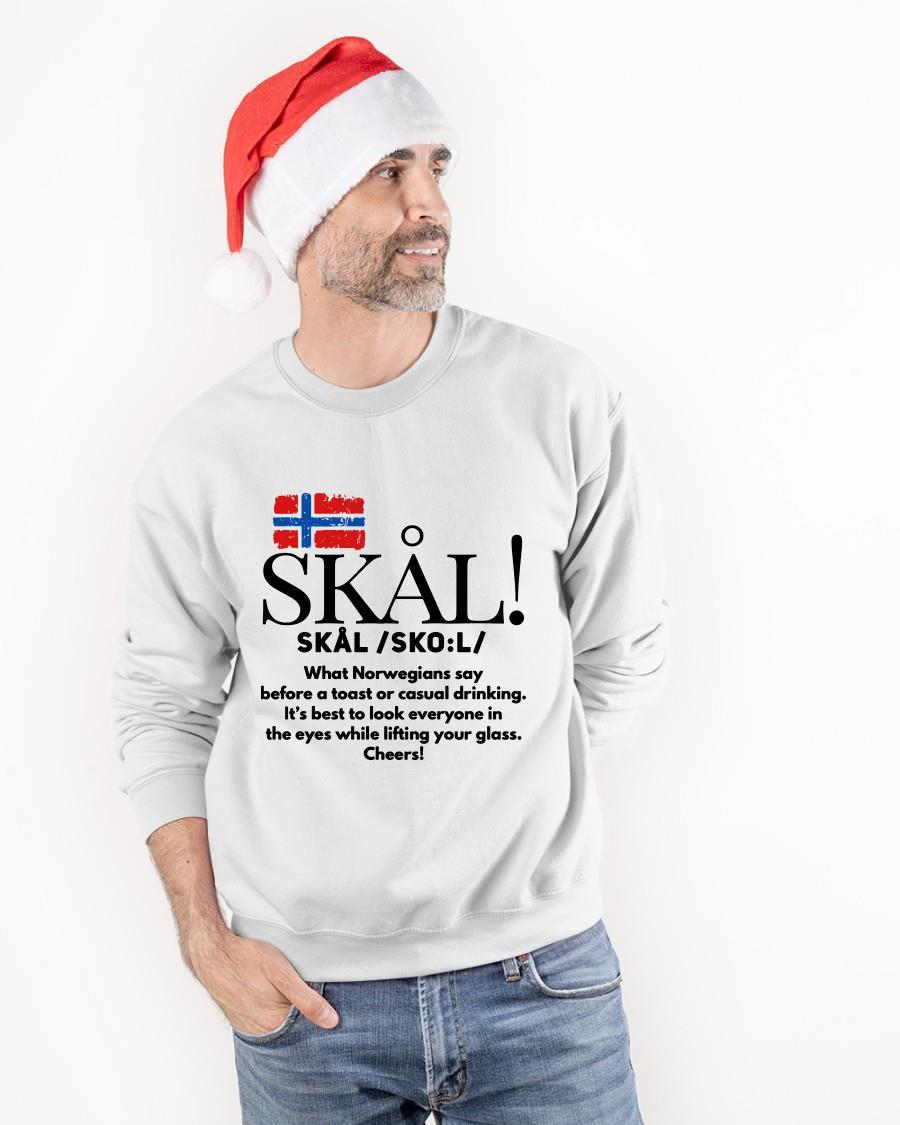Skal What Norwegians Say Before A Toast Or Casual Drinking Sweater